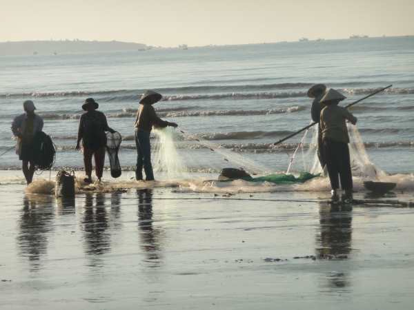 Fishermen with nets