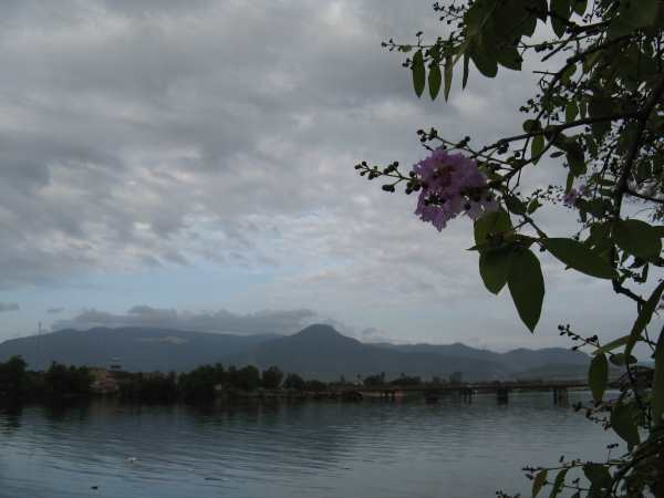 View across river from Kampot.