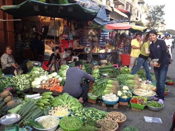 A local market.