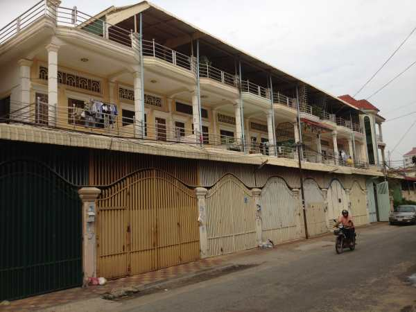 Terraced houses Phnom Penh