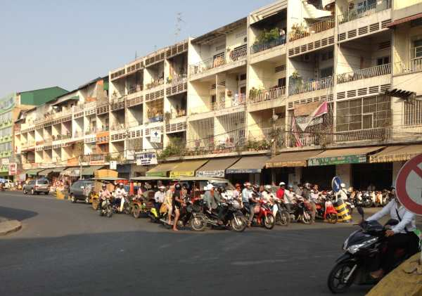 Busy street Phnom Penh