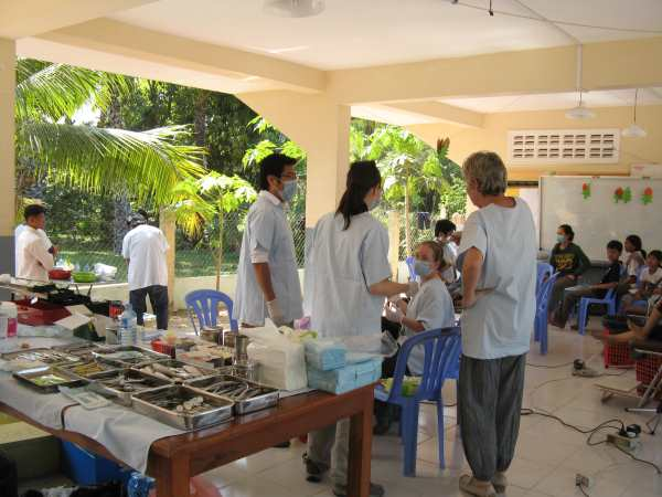 Mobile Dental and Medical Clinic at an orphanage in Phnom Penh.
