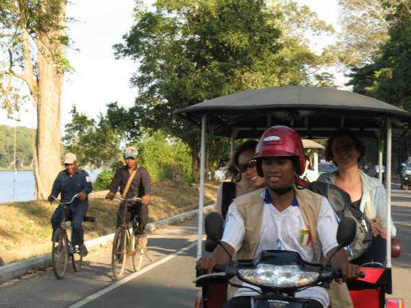 Tuktuk at Angkor Wat